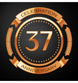 Thirty seven years anniversary celebration with vector image vector image