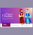 three magic kings of orient cartoon characters vector image vector image
