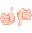 thumb up and thumb down vector image vector image