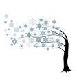 tree in the wind vector image vector image