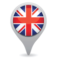uk flag pointer vector image