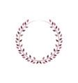 vintage floral round frames pink decorative ivy vector image vector image