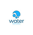 water drop logo icon on white background vector image vector image
