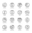 web development line icons 2 vector image vector image