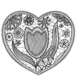 Woven tulip vector image vector image