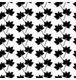 black leaves seamless pattern background template vector image