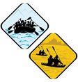 Water Sea Sport Rowing Rafting vector image