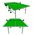 Ping pong green table tennis vector image