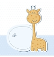 Baby boy shower card with cute giraffe vector image