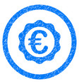 euro award stamp rounded icon rubber stamp vector image