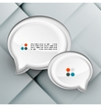 3d paper speech bubbles vector image