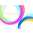 abstract colorful curved scene on a white vector image vector image
