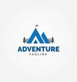 adventure logo mountain shape letter a vector image vector image