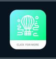 air airdrop tour travel balloon mobile app button vector image