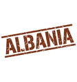 Albania brown square stamp vector image vector image