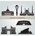 Astana landmarks and monuments vector image vector image