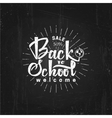 Back to school on blackboard- labels stickers vector image vector image