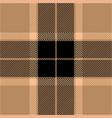 black and beige tartan plaid seamless pattern vector image vector image
