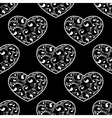 black hearts seamless vector image