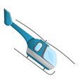blue helicopter icon cartoon style vector image