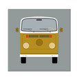 bus front view flat design vector image vector image