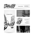 Business card urban design Street of Barcelona vector image