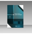Business report square and geometric cover vector image vector image