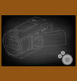 camera on black vector image