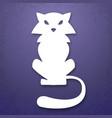 cat applique background vector image vector image