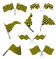 checked racing flags set vector image vector image