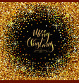 christmas decorative background made of golden vector image vector image