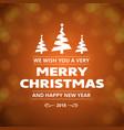 christmas greetings card with christmas tree and vector image vector image
