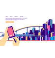 concept city navigation vector image