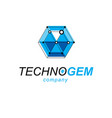 construction industry symbol 3d engineering vector image vector image