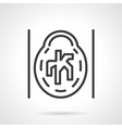 CT angiogram icon line style vector image vector image