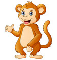 cute chimpanzee cartoon vector image vector image
