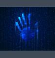 cyber handprint vector image