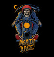 death race vector image