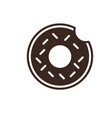 donut isolated linear style icon vector image