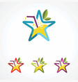 drink star logo icon element and template vector image vector image