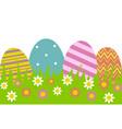 eggs in row vector image vector image