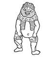 egyptian god bes vintage vector image vector image