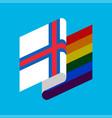 faroe islands lgbt flag symbol tolerant gay vector image vector image