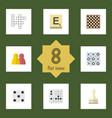 flat icon games set of guess mahjong xo and vector image vector image