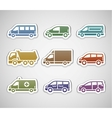 flat retro color stickers - set five vector image vector image