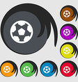 Football soccerball icon sign Symbols on eight vector image