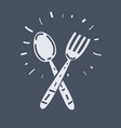 fork and spoon restaurant icon vector image vector image