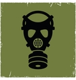 Gas mask on old background with effect of vector image vector image