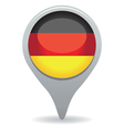 german flag pointer vector image vector image