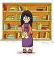 Girl with books in their hands vector image vector image